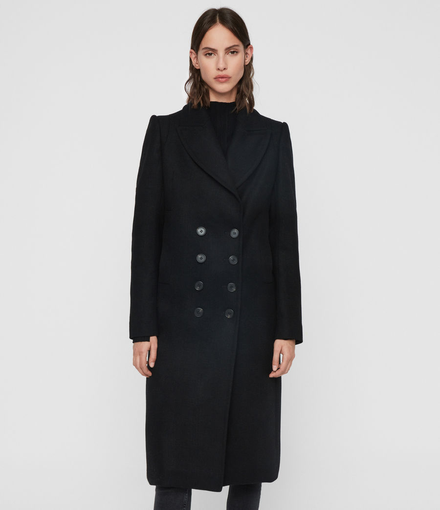 Women's Blair Shadow Coat (black) - Image 4