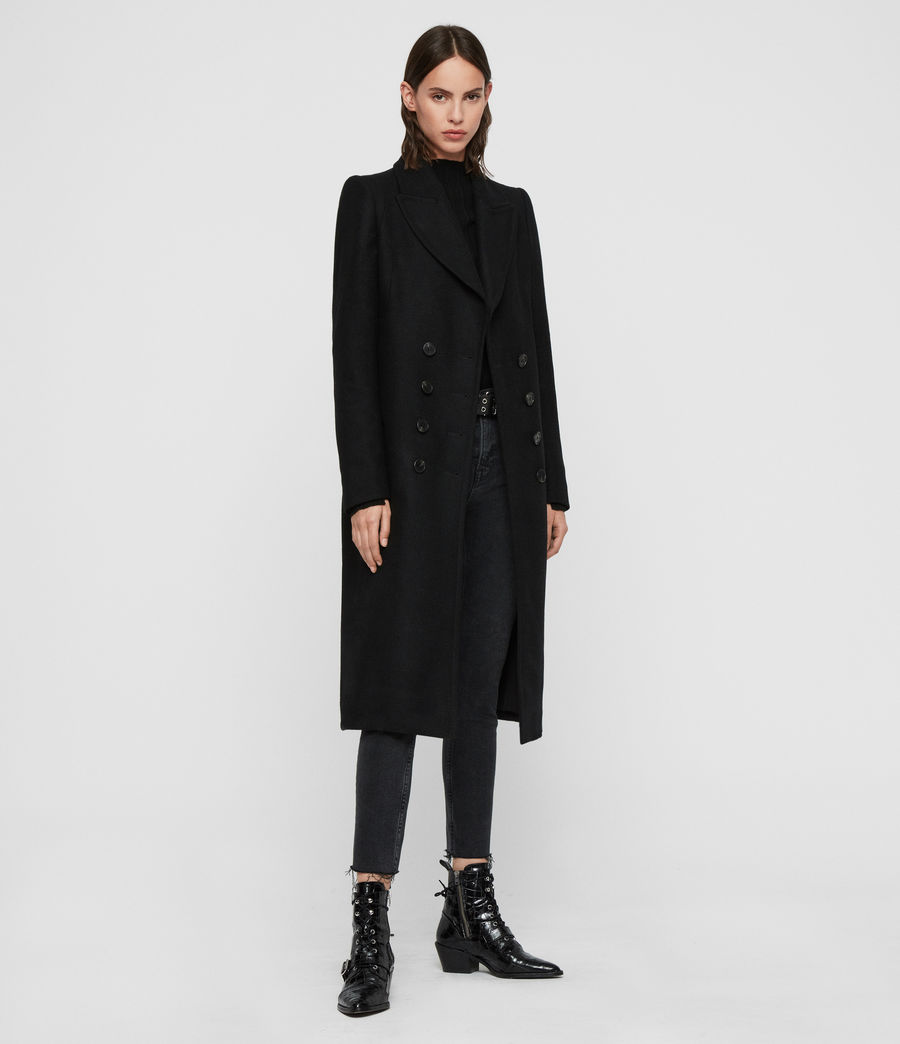 Women's Blair Shadow Coat (black) - Image 5