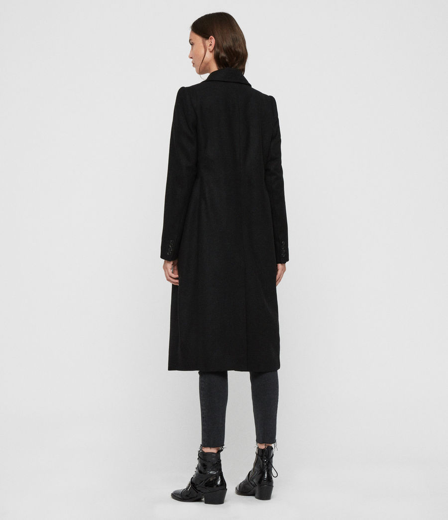 Women's Blair Shadow Coat (black) - Image 7