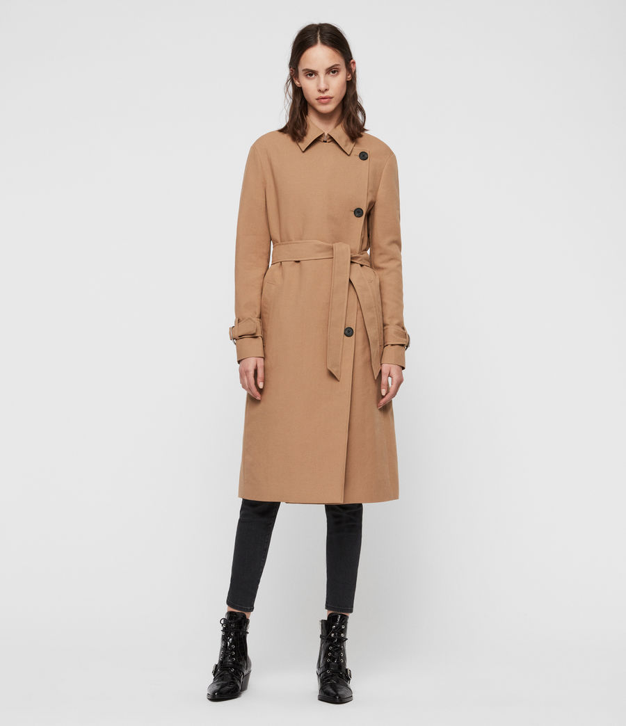 Womens Avita Trench Coat (tawny_brown) - Image 1