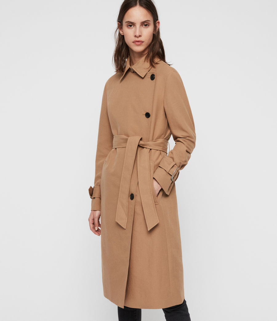 Womens Avita Trench Coat (tawny_brown) - Image 2