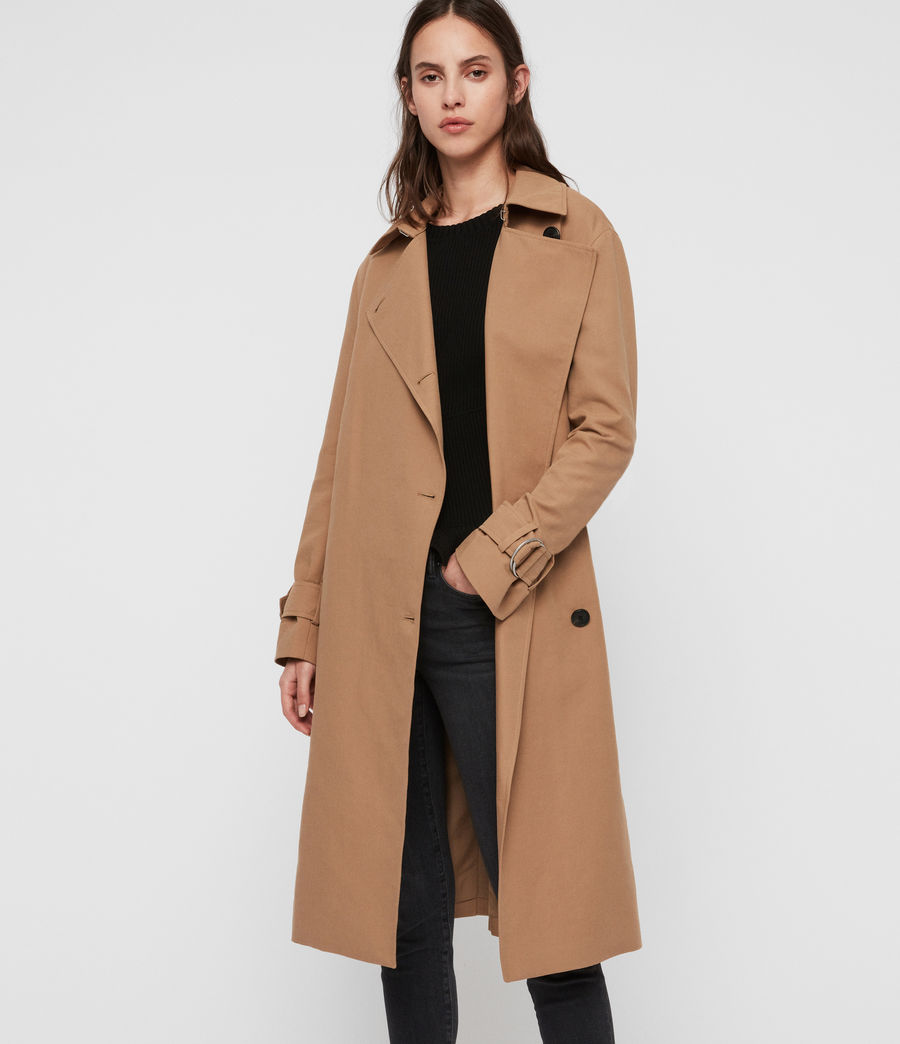 Womens Avita Trench Coat (tawny_brown) - Image 3