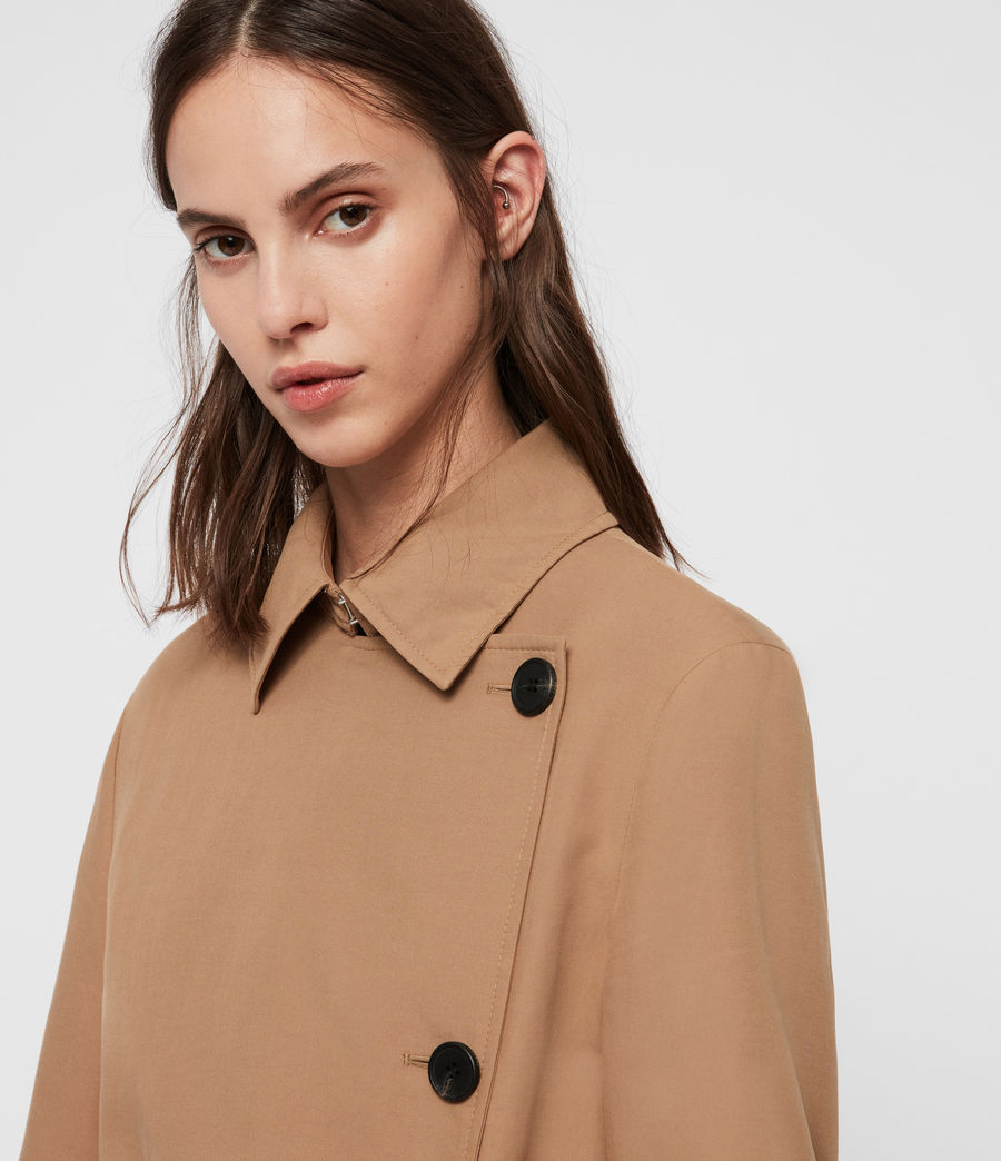 Womens Avita Trench Coat (tawny_brown) - Image 4