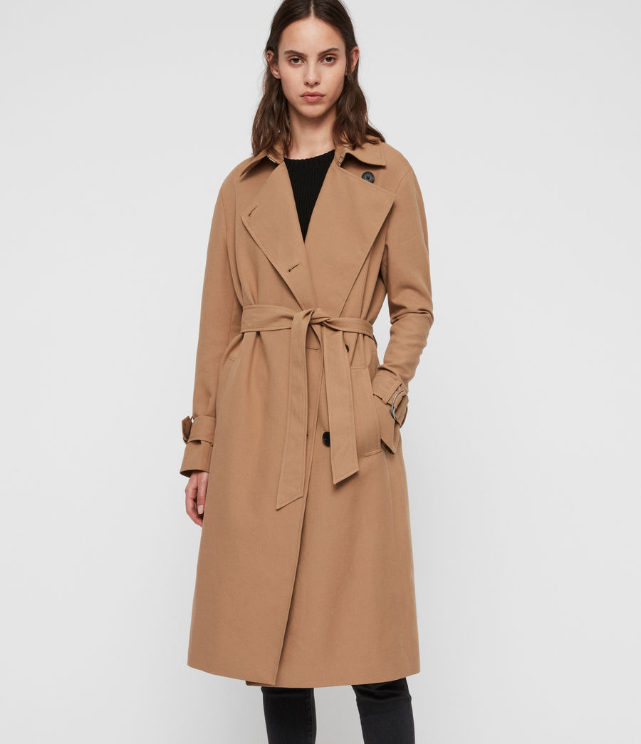 Damen Avita Trenchcoat (tawny_brown) - Image 5