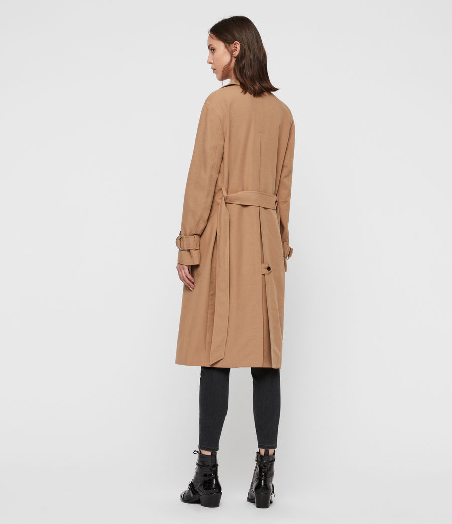 Womens Avita Trench Coat (tawny_brown) - Image 5