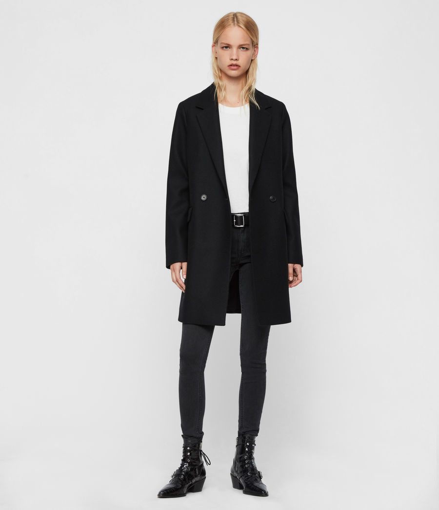 Womens Dree Teco Coat (black) - Image 1