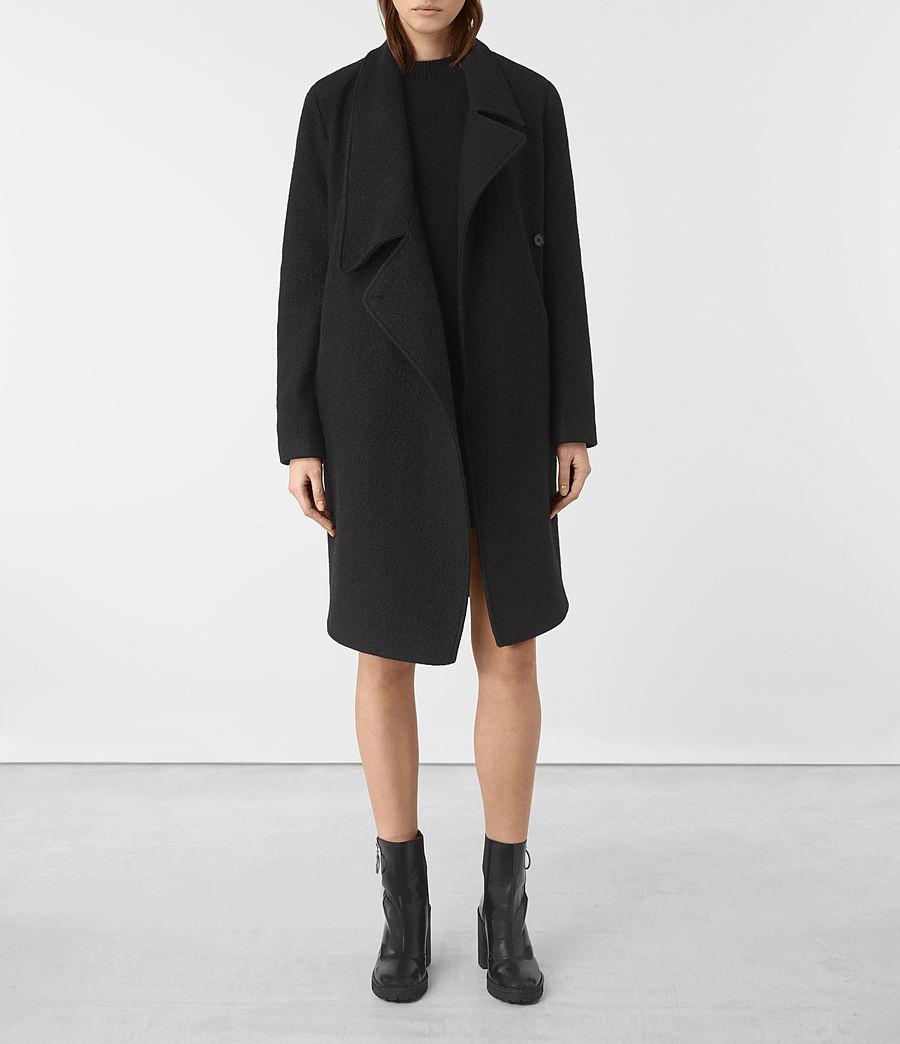 Womens Ellis Coat (black) - Image 1