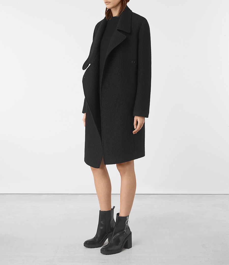 Womens Ellis Coat (black) - Image 2