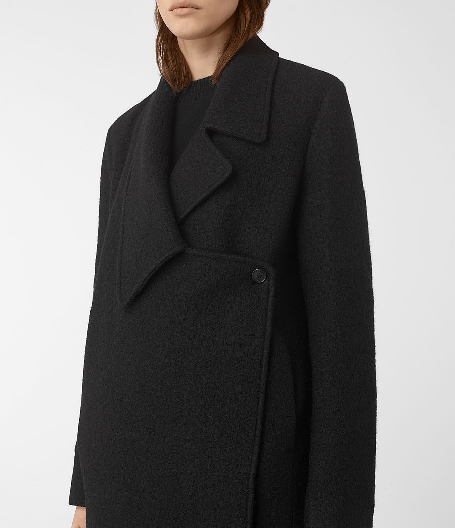 Womens Ellis Coat (black) - Image 3