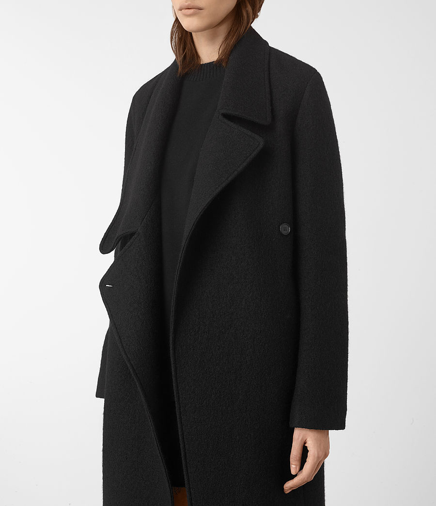 Womens Ellis Coat (black) - Image 4