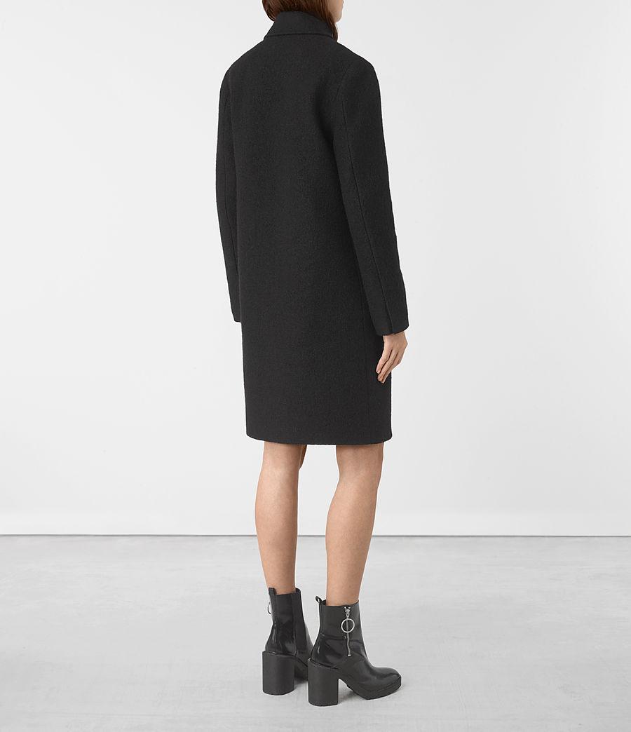 Womens Ellis Coat (black) - Image 5