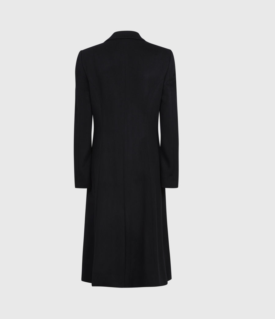 Women's Wade Silk Blend Coat (black) - Image 3