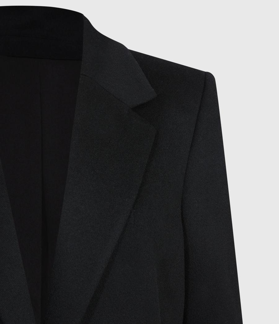 Damen Wade Silk Blend Coat (black) - Image 5