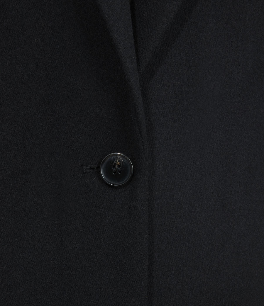 Women's Wade Wool-Silk Blend Coat (black) - Image 6