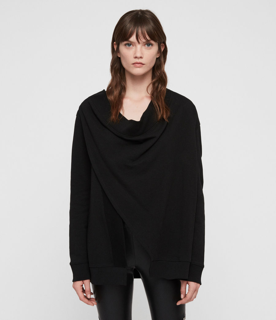 Women's Drina Drape Jacket (black) - Image 1