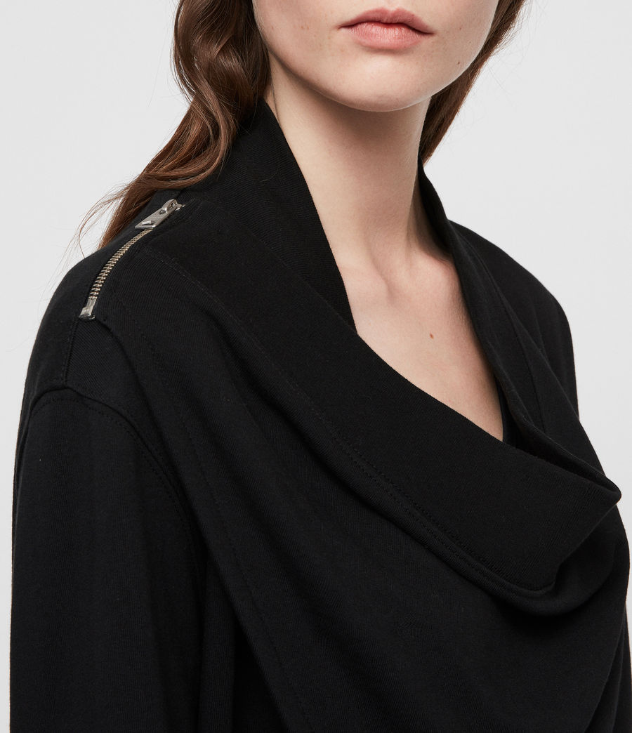 Women's Drina Drape Jacket (black) - Image 2