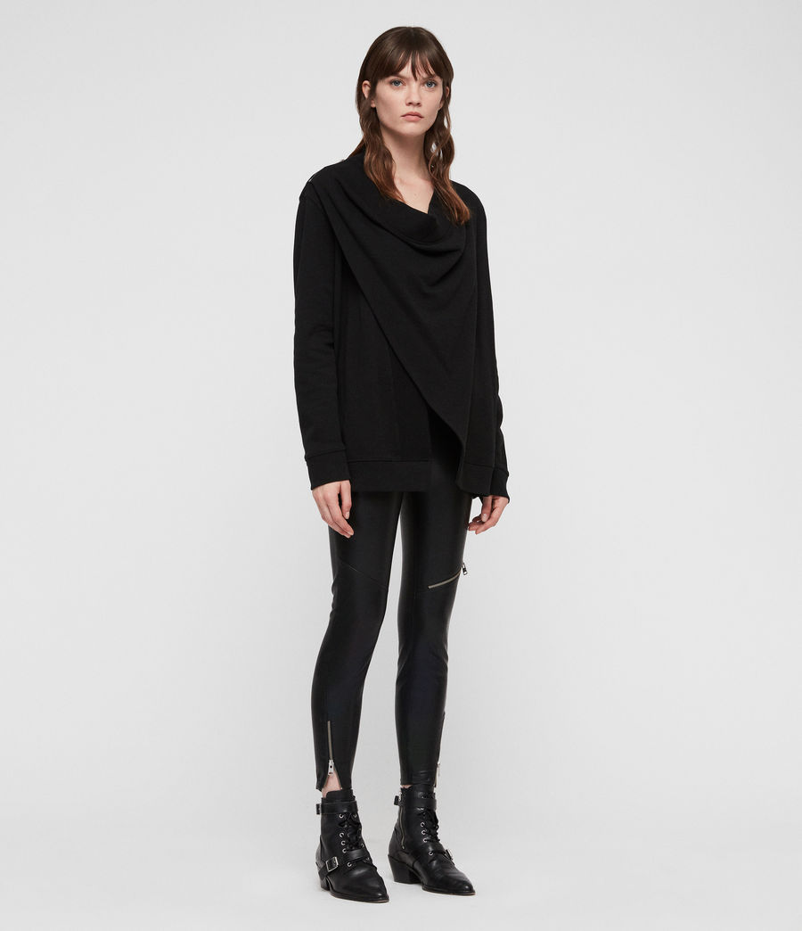 Women's Drina Drape Jacket (black) - Image 3