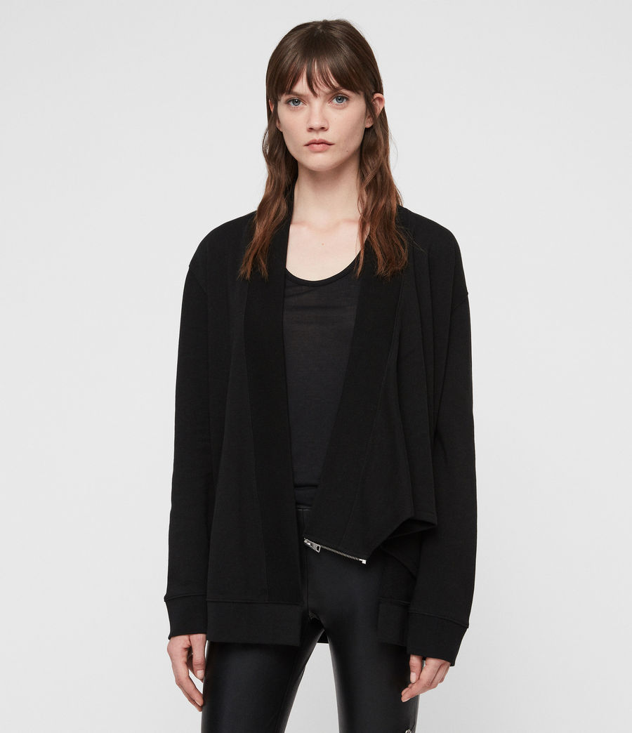 Women's Drina Drape Jacket (black) - Image 4