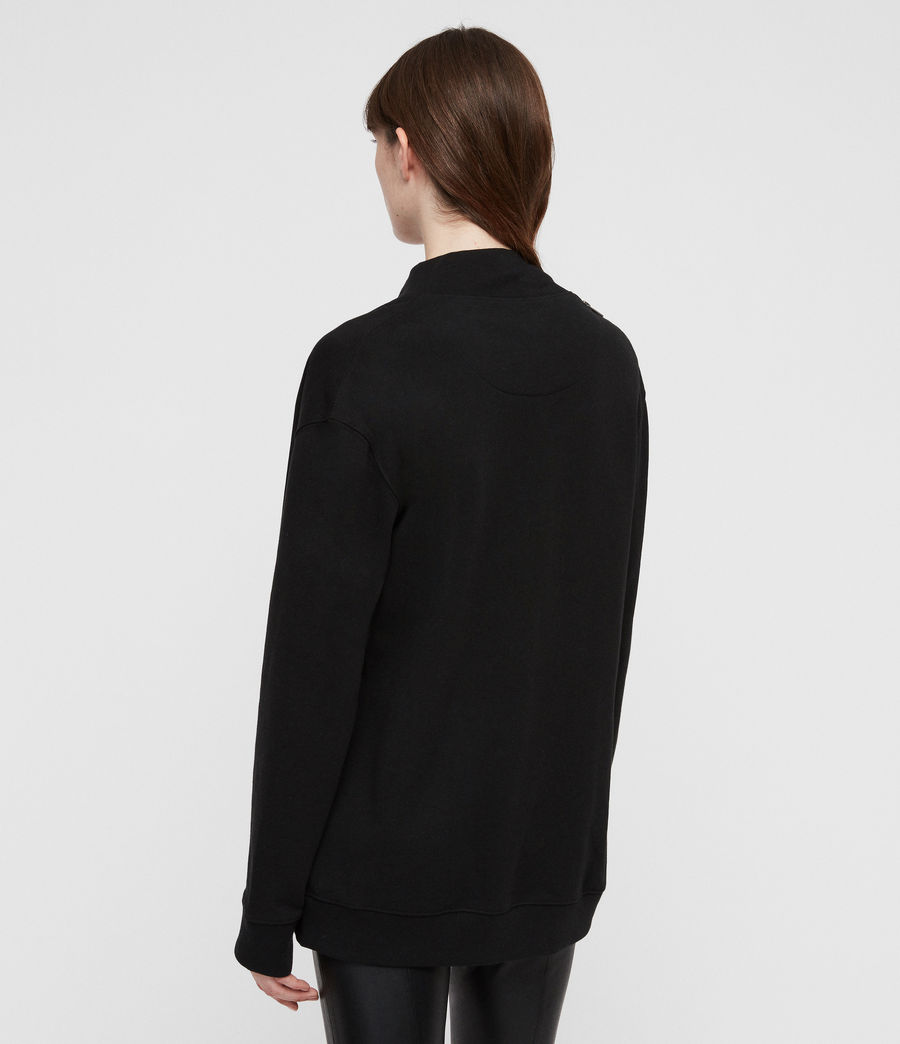 Women's Drina Drape Jacket (black) - Image 6