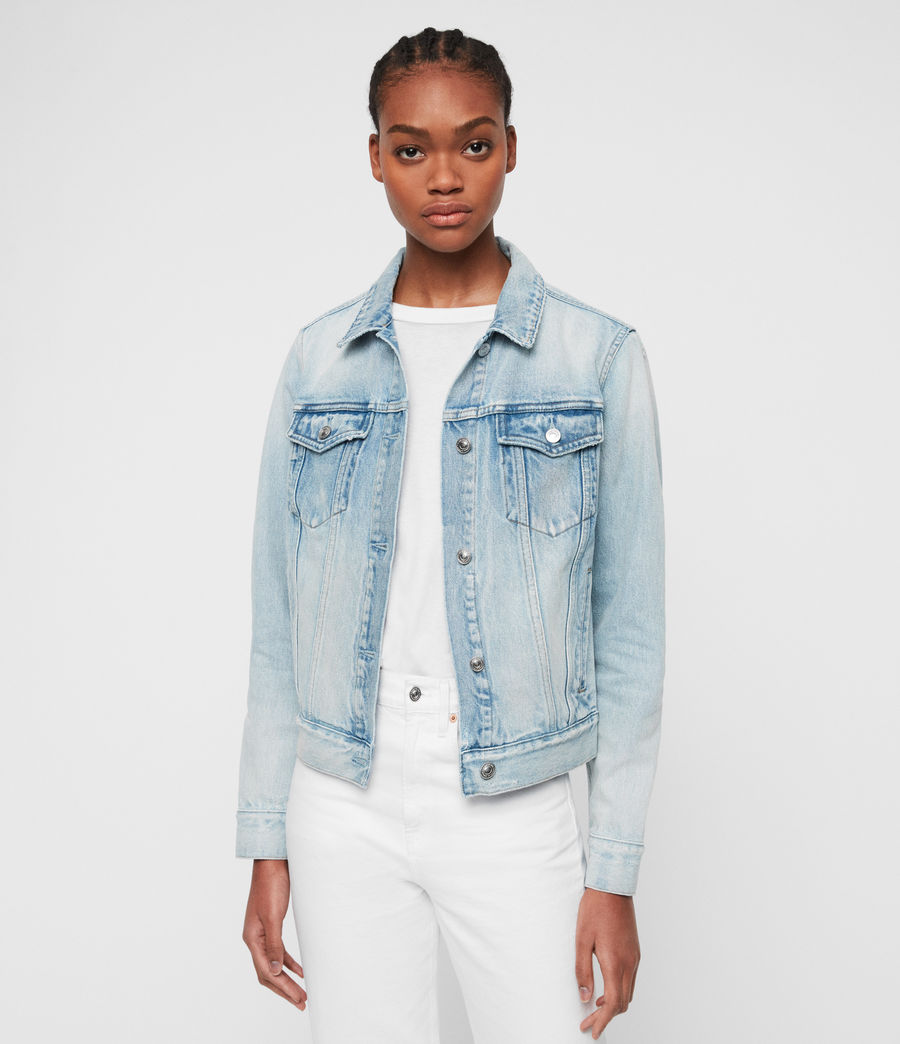 Women's Sheyla Denim Jacket (indigo_blue) - Image 2