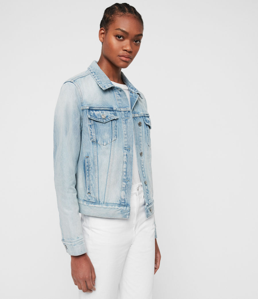 Women's Sheyla Denim Jacket (indigo_blue) - Image 4
