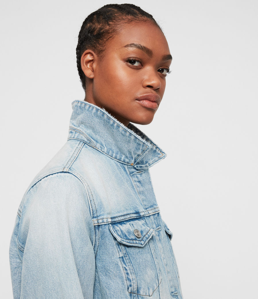 Women's Sheyla Denim Jacket (indigo_blue) - Image 6