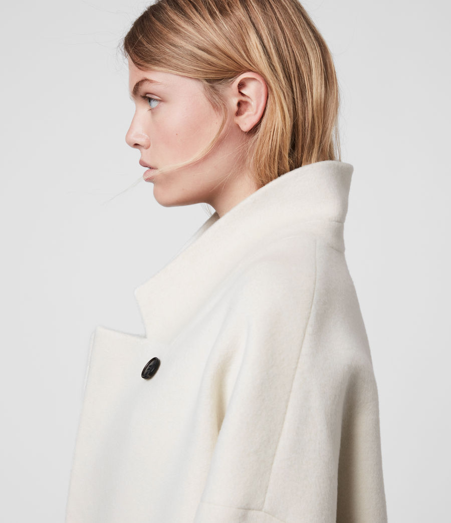 Women's Rylee Coat (ecru_white_brown) - Image 2