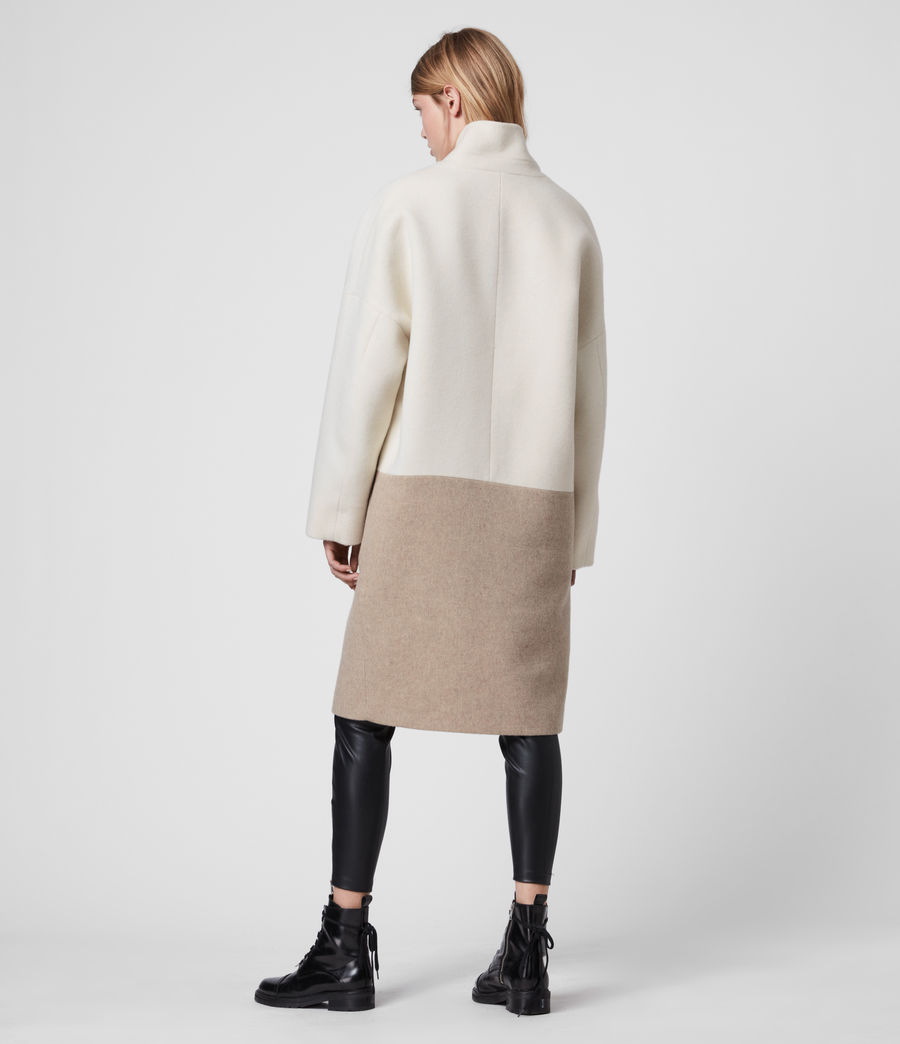 Women's Rylee Coat (ecru_white_brown) - Image 6