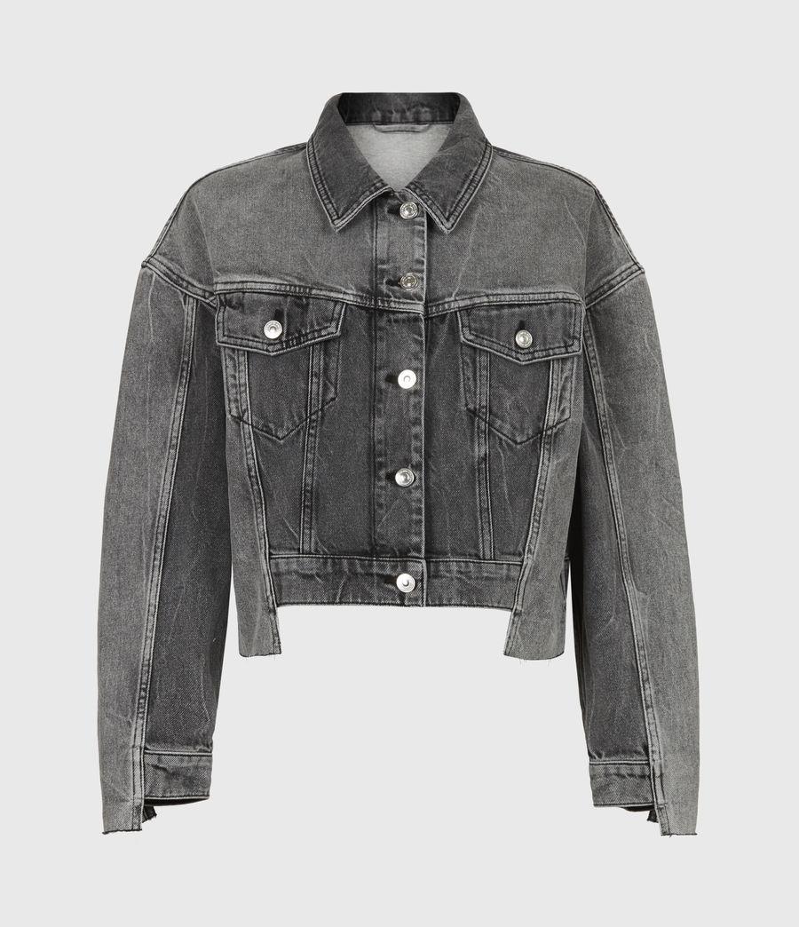 Womens Two Tone Denim Jacket (washed_grey) - Image 2