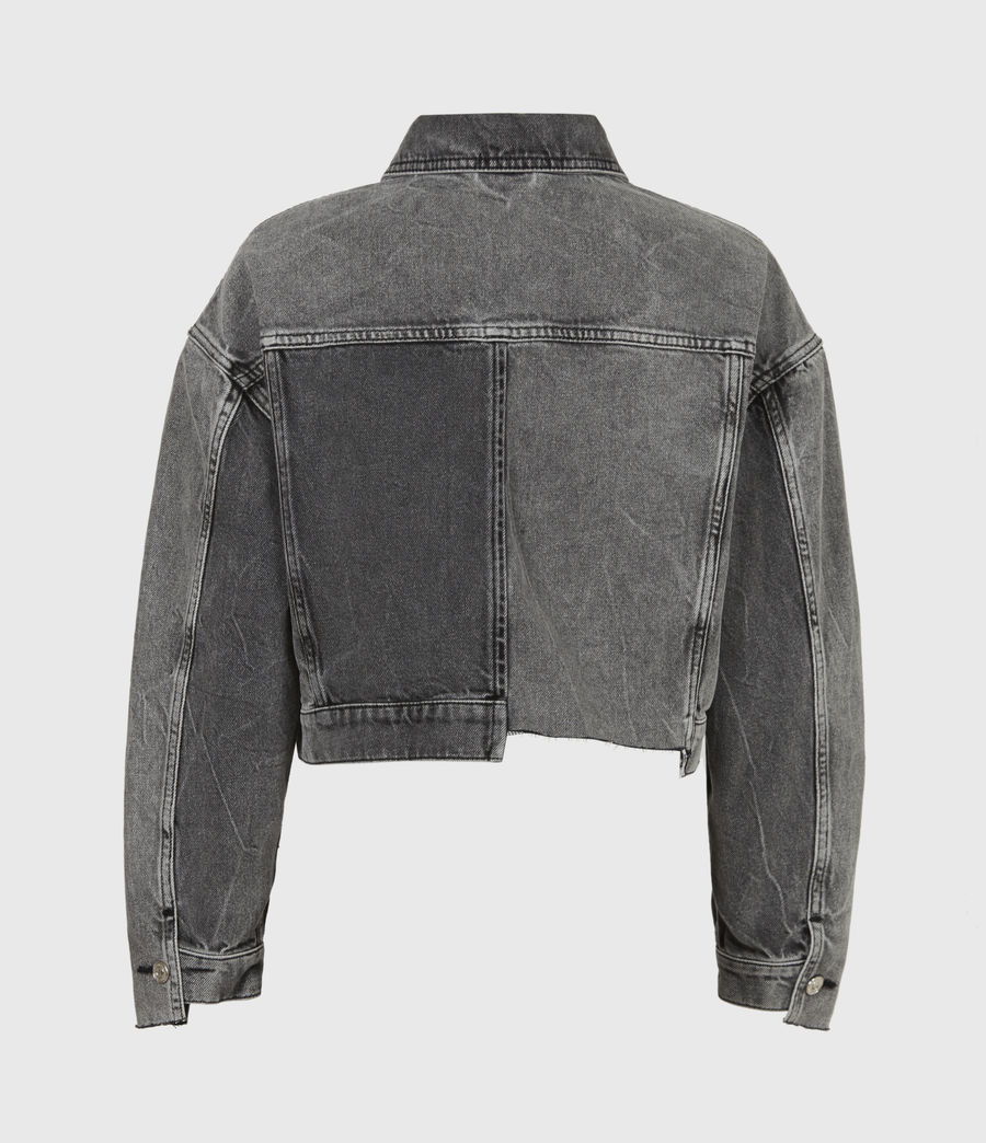 Women's Two Tone Denim Jacket (washed_grey) - Image 3