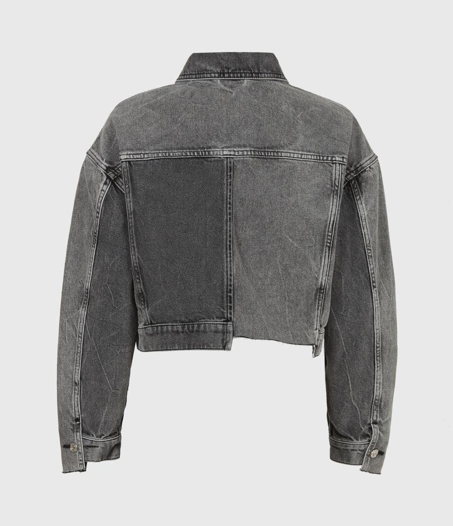 Womens Two Tone Denim Jacket (washed_grey) - Image 3