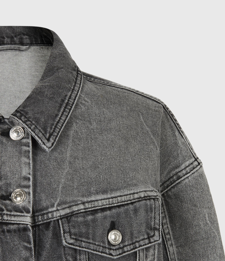 Women's Two Tone Denim Jacket (washed_grey) - Image 5
