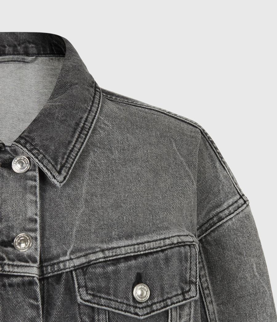 Womens Two Tone Denim Jacket (washed_grey) - Image 5