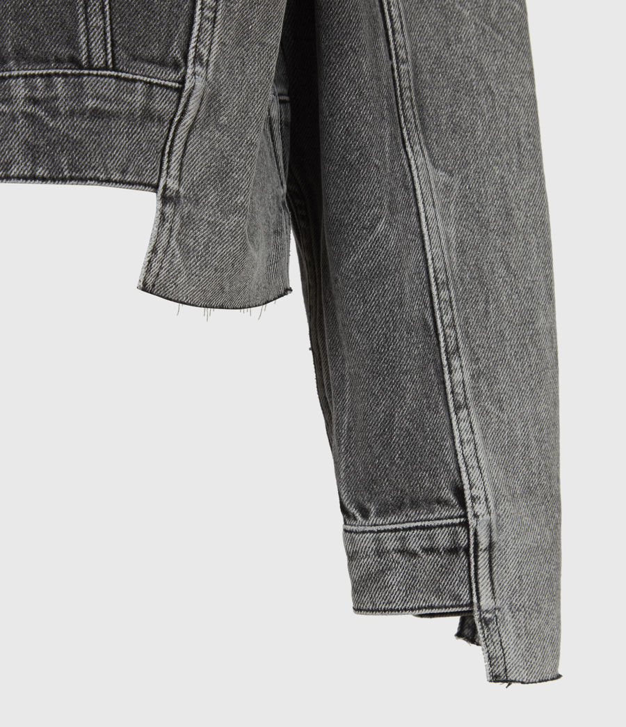 Women's Two Tone Denim Jacket (washed_grey) - Image 6