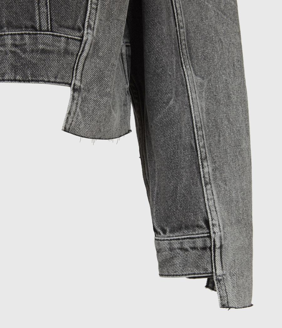 Womens Two Tone Denim Jacket (washed_grey) - Image 6