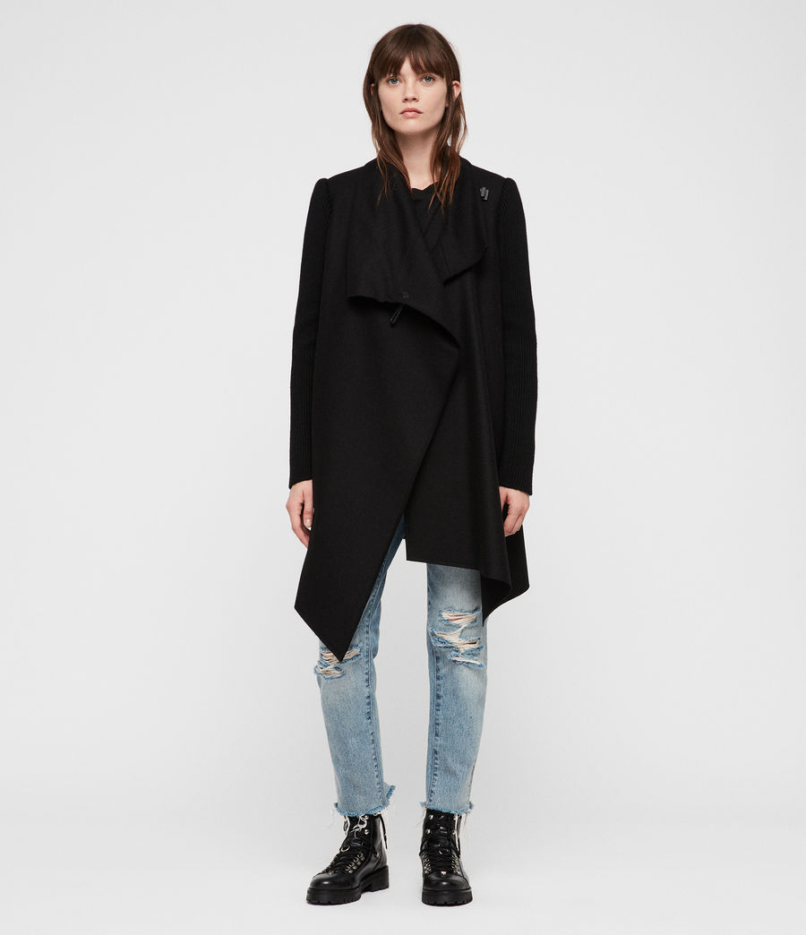 Womens Monument Rib Coat (black) - Image 1
