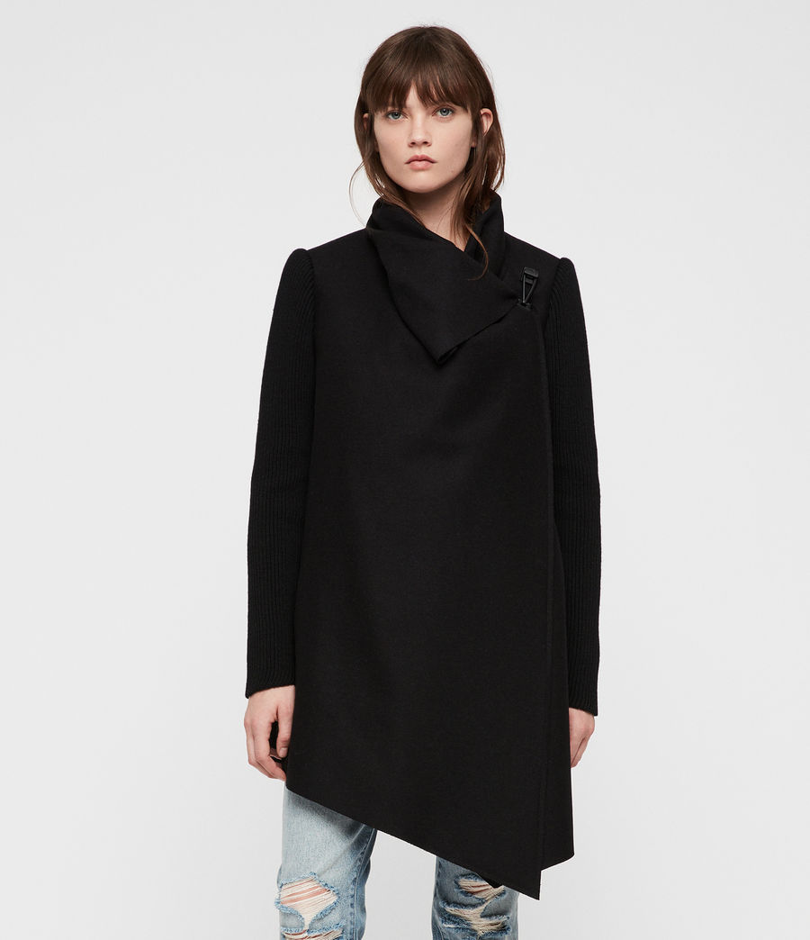 Womens Monument Rib Coat (black) - Image 2