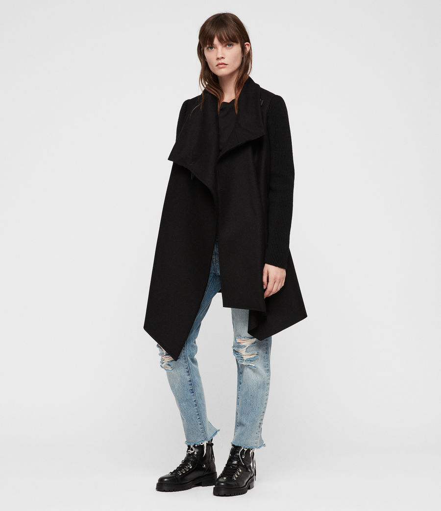 Womens Monument Rib Coat (black) - Image 3