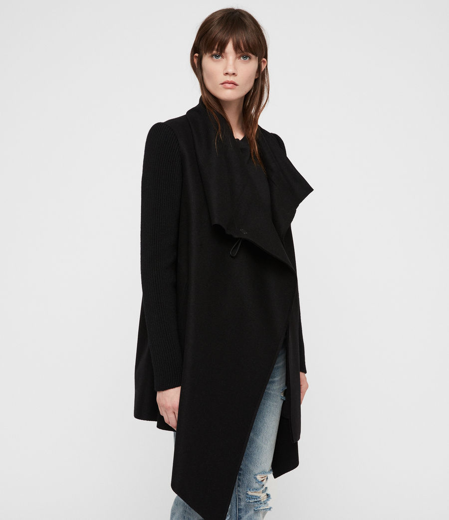 Womens Monument Rib Coat (black) - Image 4