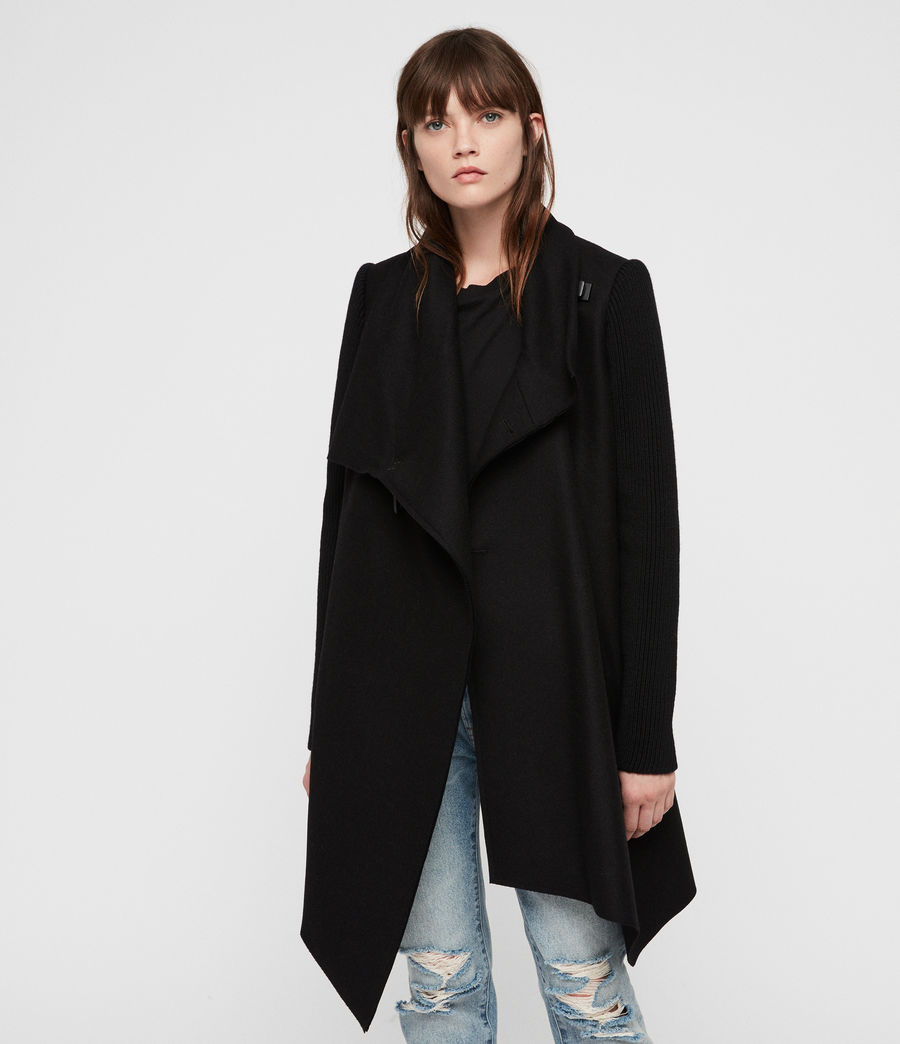 Womens Monument Rib Coat (black) - Image 5