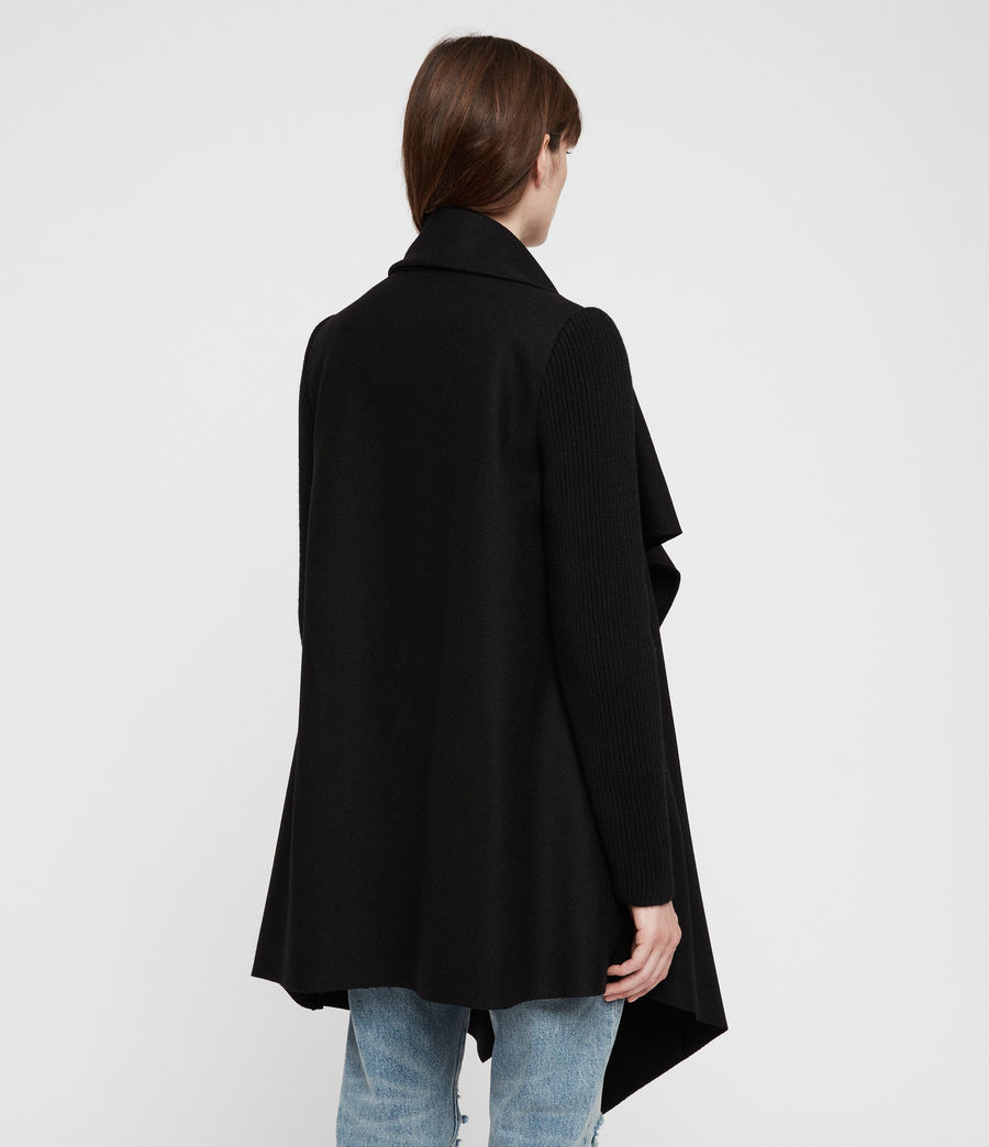 Womens Monument Rib Coat (black) - Image 6