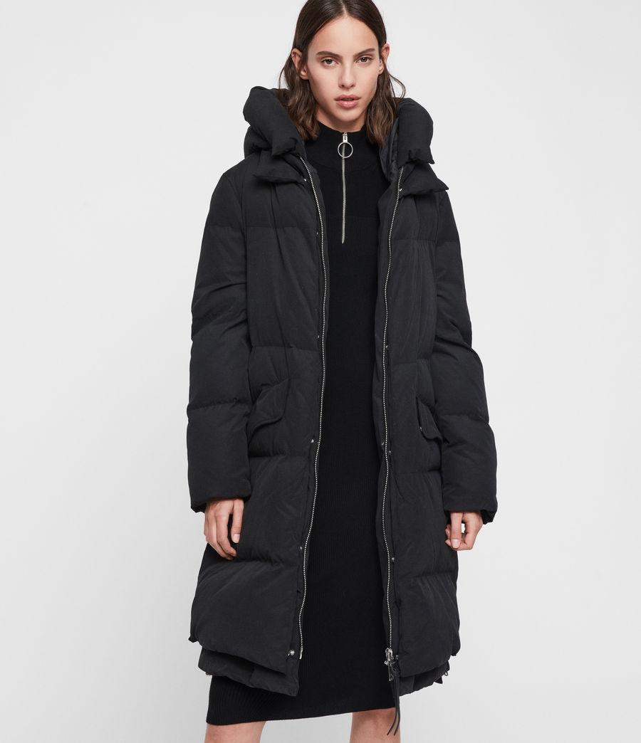 Womens Ester Parka Puffer Coat (black) - Image 1