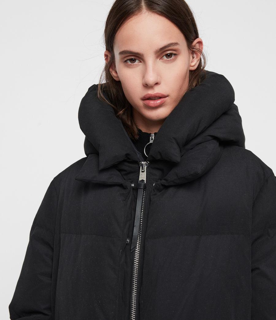 Womens Ester Parka Puffer Coat (black) - Image 2