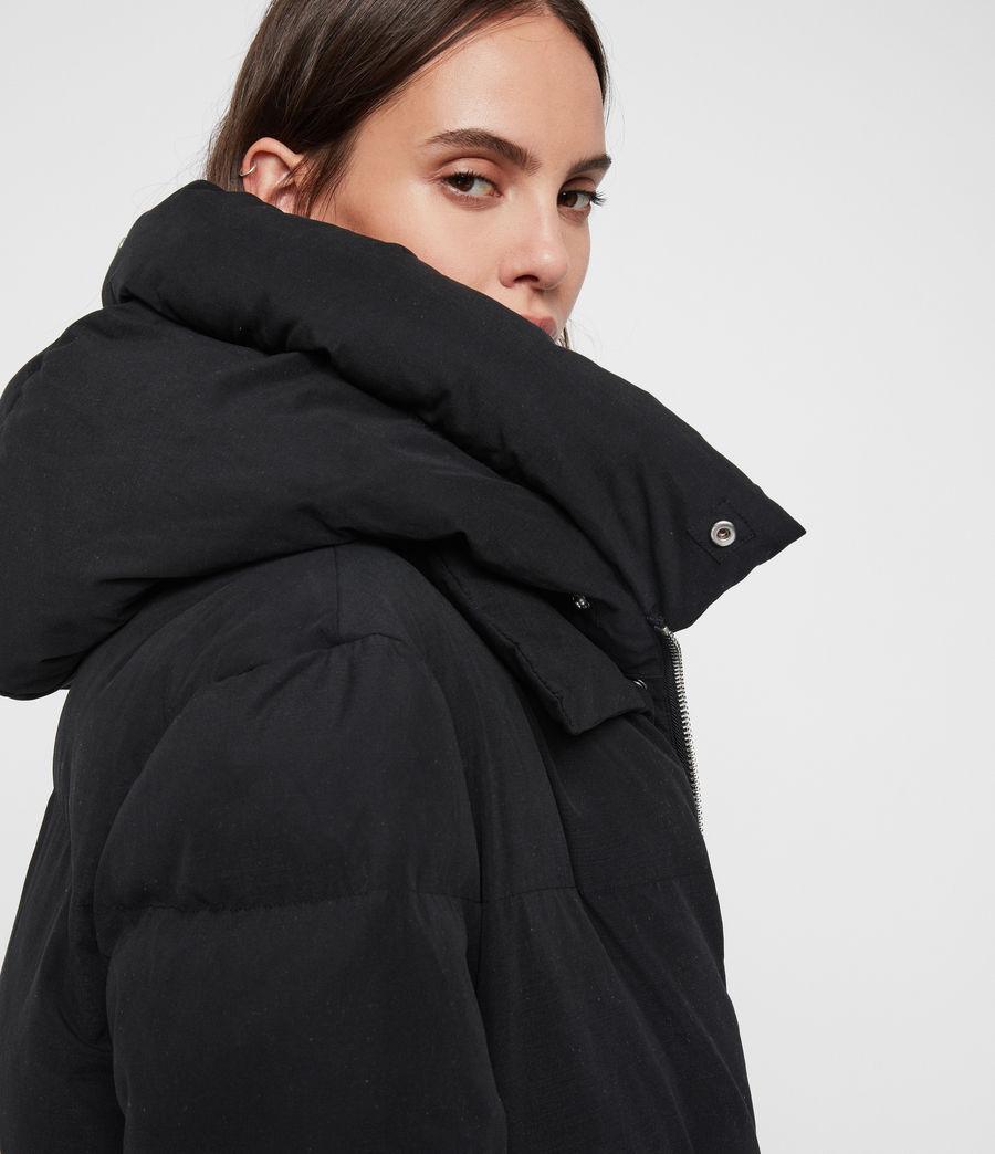 Womens Ester Parka Puffer Coat (black) - Image 4