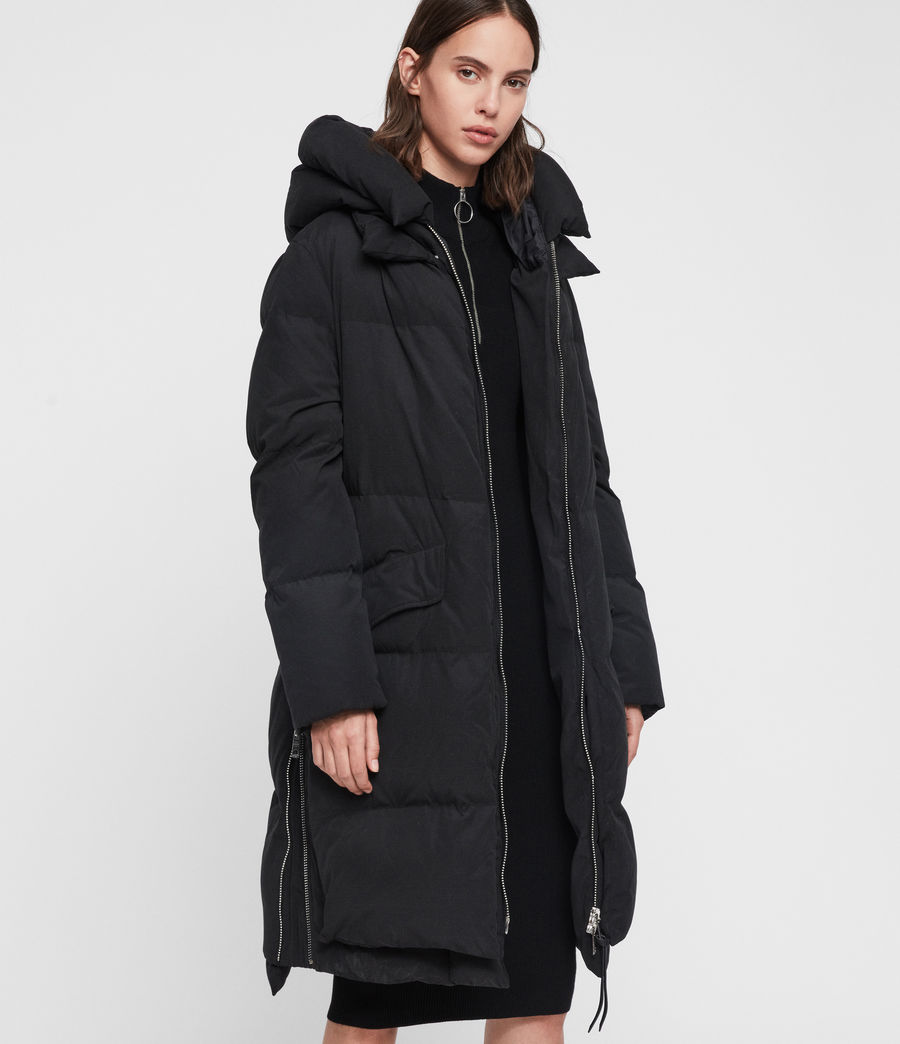 Womens Ester Parka Puffer Coat (black) - Image 5