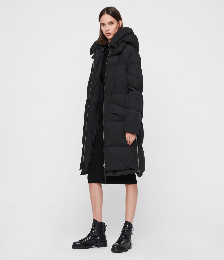 Womens Ester Parka Puffer Coat (black) - Image 6