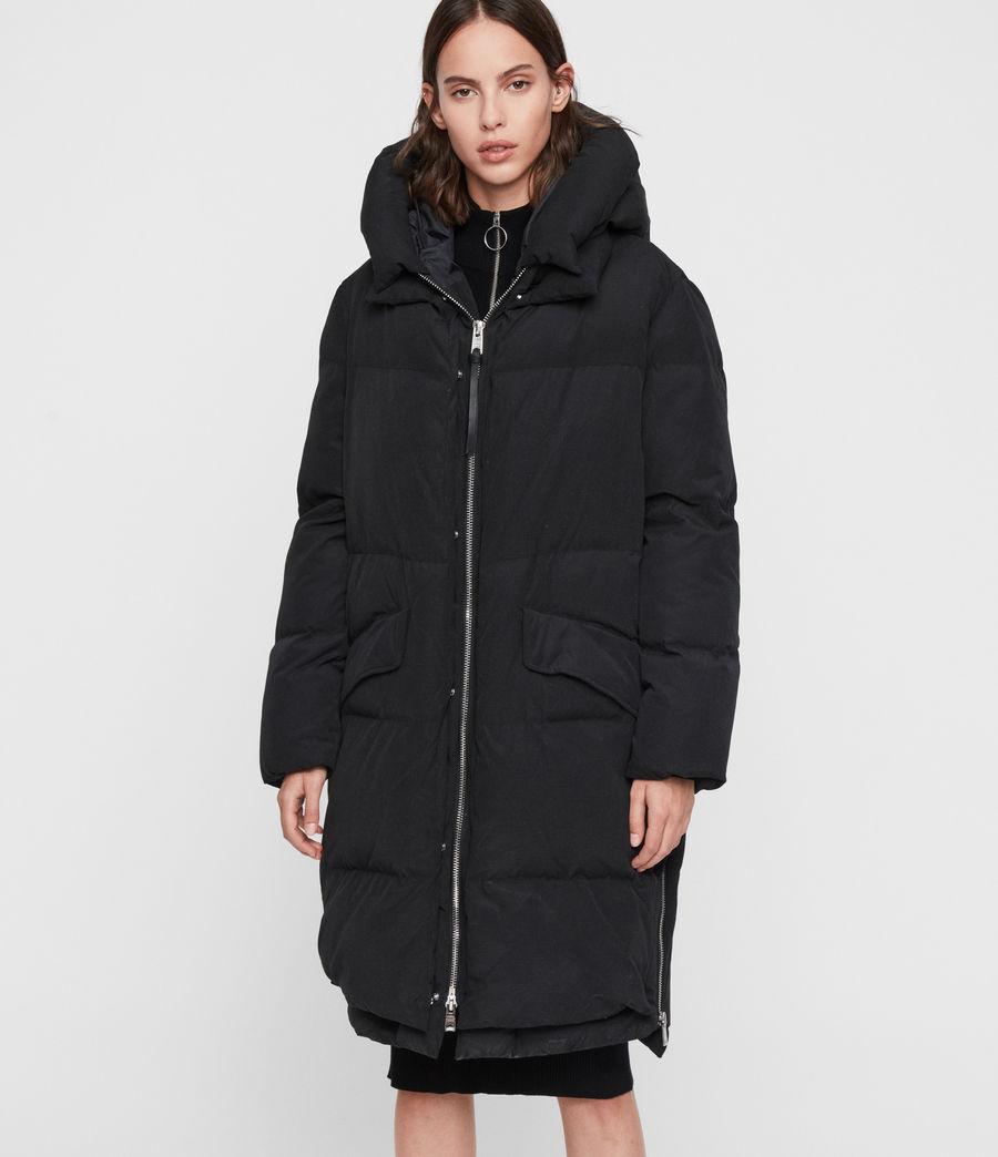Womens Ester Parka Puffer Coat (black) - Image 3
