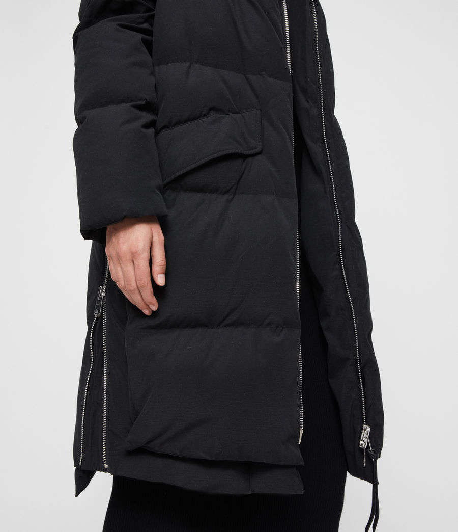 Womens Ester Parka Puffer Coat (black) - Image 8