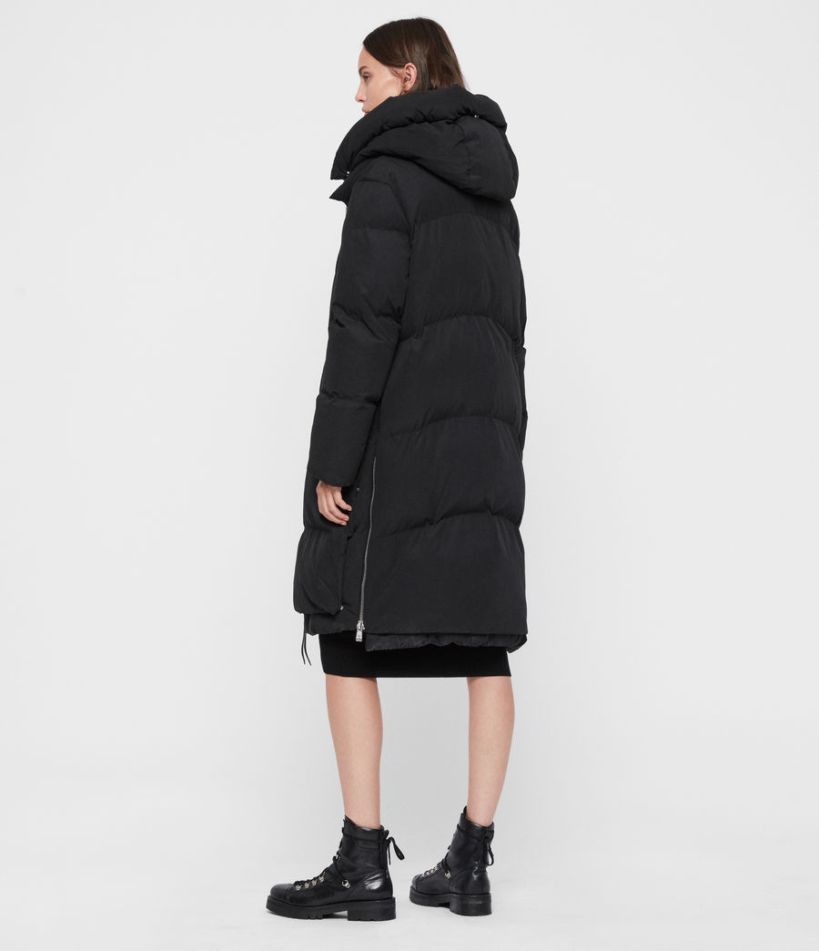 Womens Ester Parka Puffer Coat (black) - Image 9