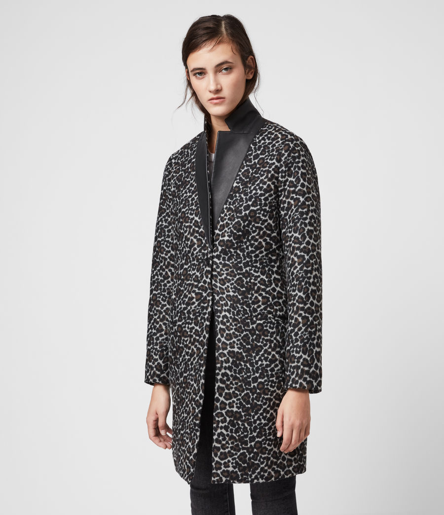 Womens Leni Leo Coat (brown) - Image 4